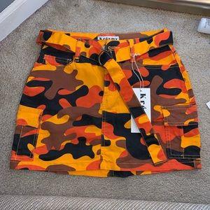 Orange Camo Skirt